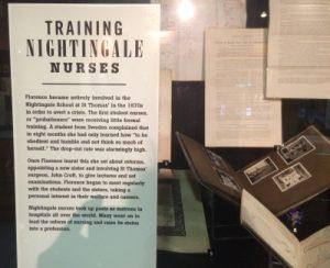 Florence Nightingale Museum - Text zum Training von Krankenschwestern