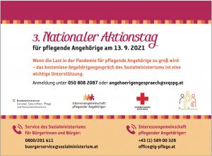 3. Nationaler Aktionstag für Pflegende Angehörige